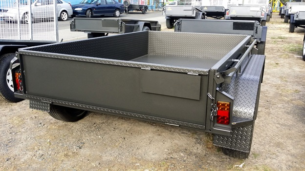 Charcoal colour tandem trailer
