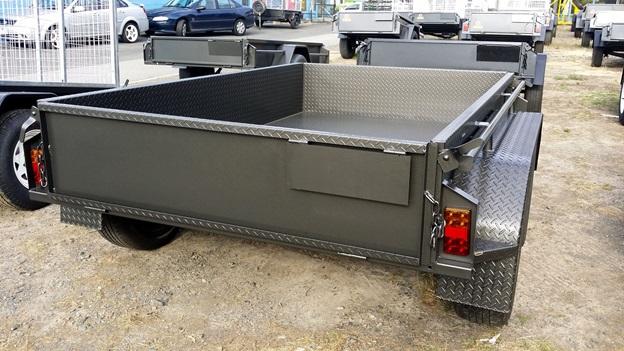 Charcoal colour tandem trailer